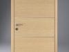 Design F Türelement Fusion 1 mit bombierter Zarge Eiche Polar Streifer Zusatzausstattung: verdeckte Bänder Typ GN mit Decoreinlagen (chromfarbig matt)